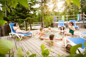 Piscines et jacuzzis Camping Cime Aventures Bonaventure Gaspésie