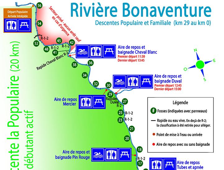 Carte de la rivière pour les participants de la familiale guidée