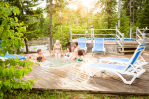 Hot tub, Bonaventure Campsite