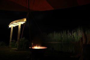 Fire by the Bonaventure River, Cime Aventures Campsite