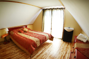 Bedroom from the family unit, Grande Ourse Cottage, Cime Aventures