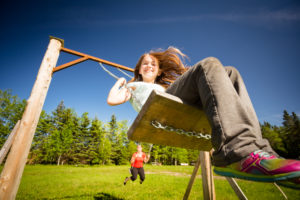 Swings on the campground, Cime Aventures