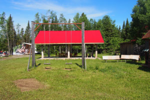 Recreationnal sheltered area for campers