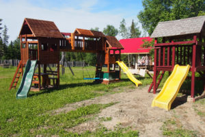 Child playground by the center of campground.