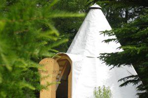 Camping en tipis à Cime Aventure, Bonaventure, Gaspésie