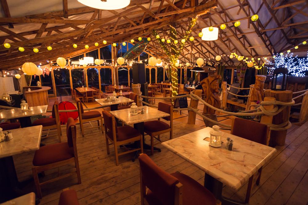 Le restaurant de Cime Aventures Rivière Bonaventure Gaspésie