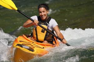 Kayak on the Bonaventure river
