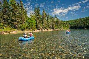 Rafting sur la rivière bonaventure
