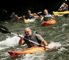 Kayaking with friends Bonaventure river