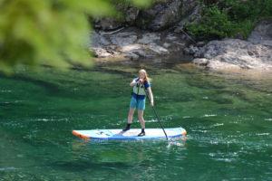 Planche à pagaie (SUP), Descente la Populaire rivière Bonaventure