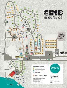 Carte du camping Cime Aventures
